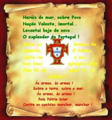 Hymne national centre franco portugais - Drapeau portugais a imprimer ...