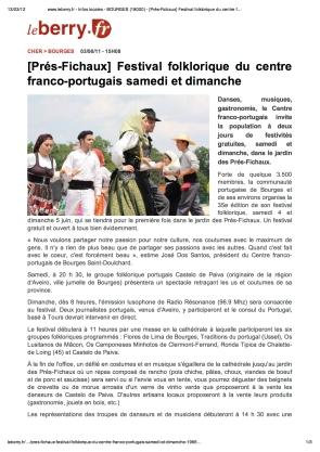 Festival folklorique pres fichaux