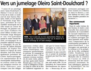 visite maire de Oleiros
